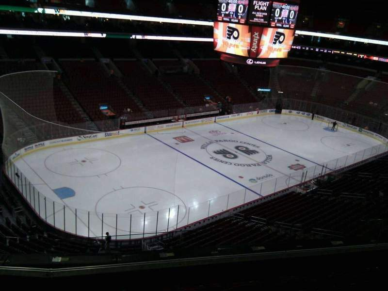 Seating view for Wells Fargo Center Section 210 Row 5 Seat 4