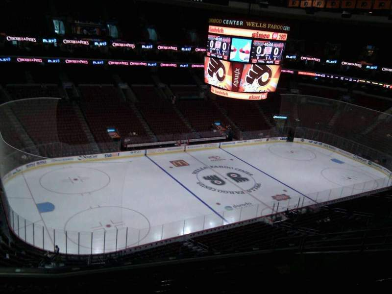 Seating view for Wells Fargo Center Section 210a Row 10 Seat 7