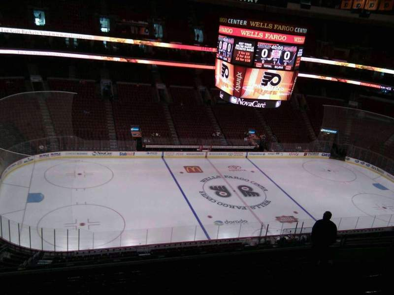 Seating view for Wells Fargo Center Section 211 Row 11 Seat 11