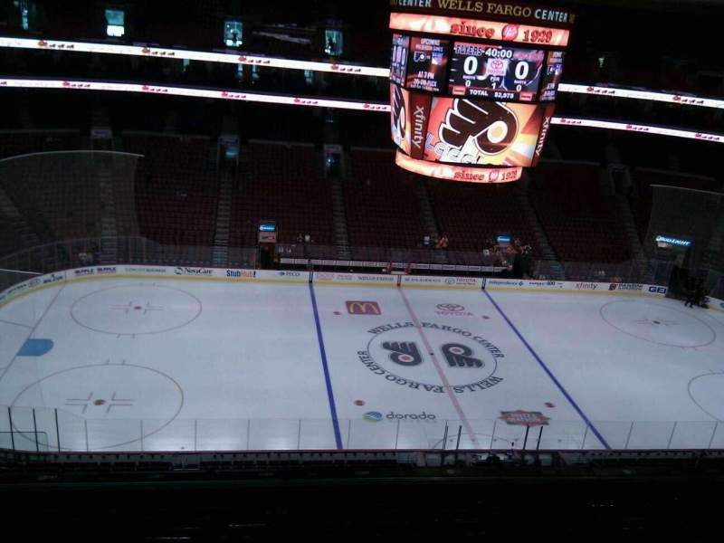 Seating view for Wells Fargo Center Section 212 Row 9 Seat 5