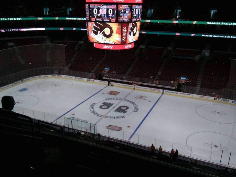 Seating view for Wells Fargo Center Section 215 Row 7 Seat 4