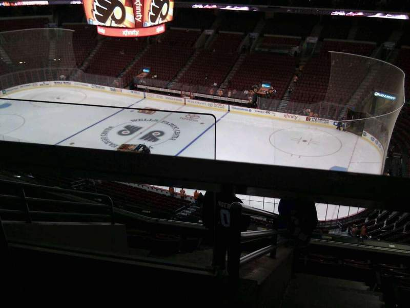 Seating view for Wells Fargo Center Section 216 Row  8 Seat 2