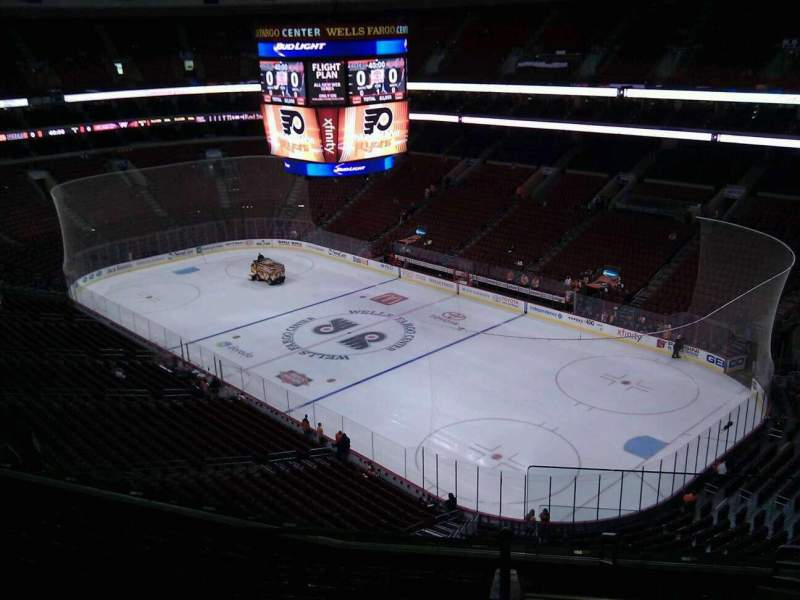 Seating view for Wells Fargo Center Section 216a Row 10 Seat 17