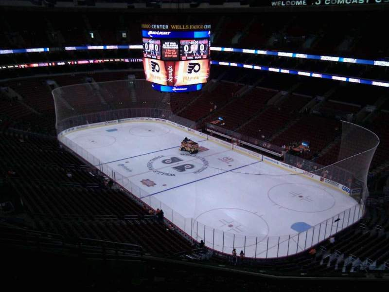 Seating view for Wells Fargo Center Section 217 Row 12 Seat 7