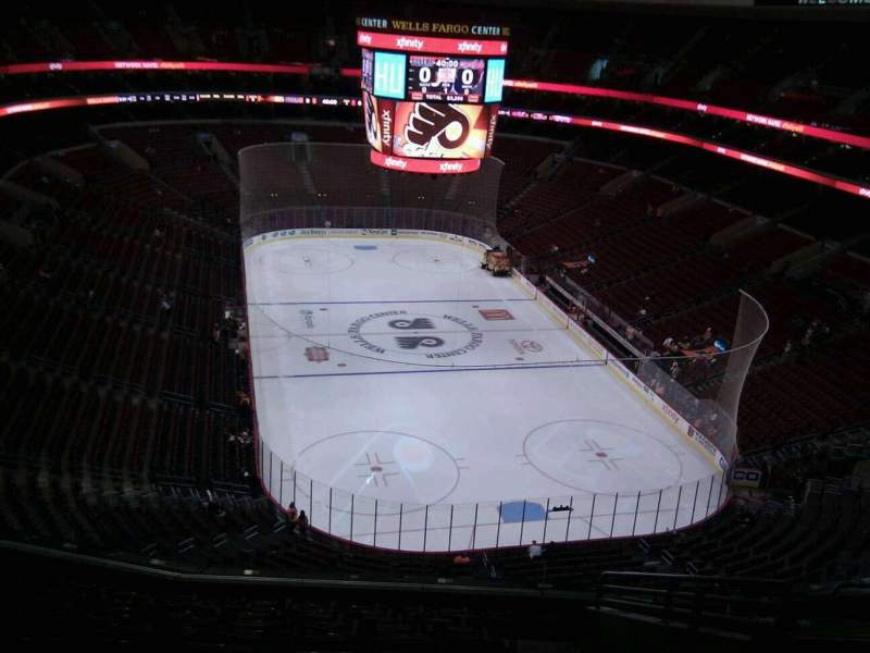 Seating view for Wells Fargo Center Section 218 Row 11 Seat 13