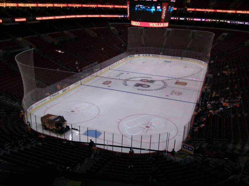 Seating view for Wells Fargo Center Section 220 Row 2 Seat 9