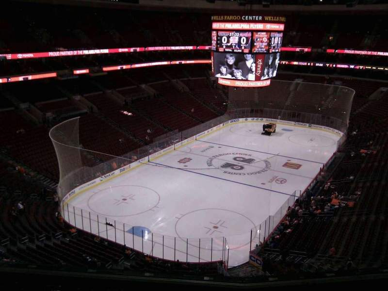 Seating view for Wells Fargo Center Section 221 Row 8 Seat 8