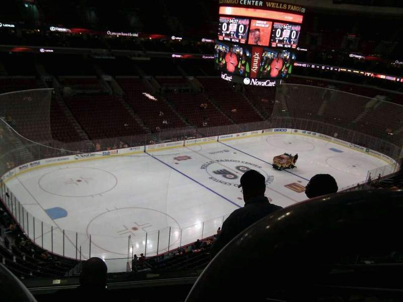 Seating view for Wells Fargo Center Section 222 Row 6 Seat 8