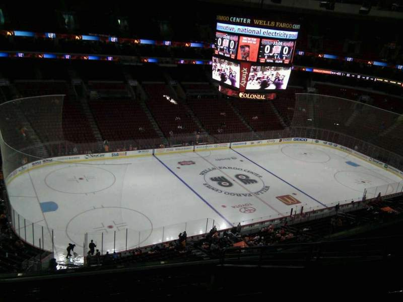 Seating view for Wells Fargo Center Section 222a Row 11 Seat 11