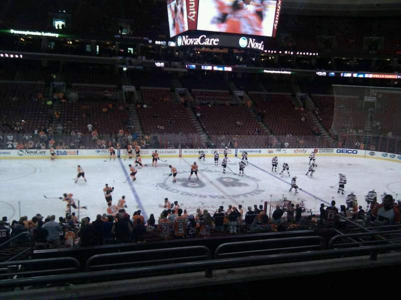 Seating view for Wells Fargo Center Section Club Box 24 Row 3 Seat 6