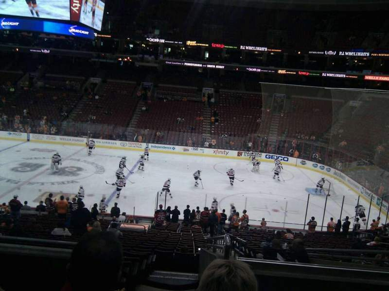 Seating view for Wells Fargo Center Section Club Box 2 Row 4 Seat 18