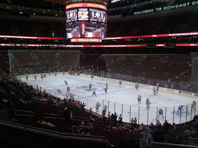 Seating view for Wells Fargo Center Section Club Box 4 Row 6 Seat 23