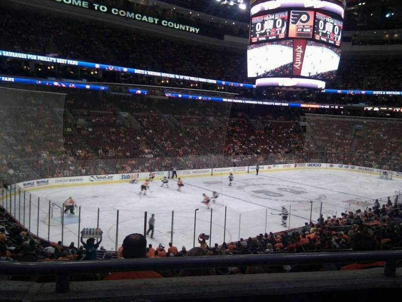 Seating view for Wells Fargo Center Section Club Box 22 Row 3 Seat 6