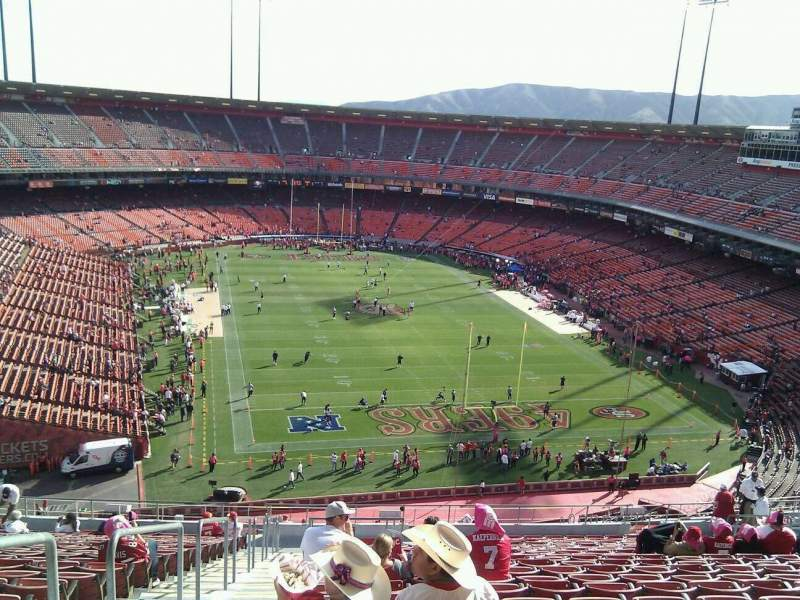 Seating view for Candlestick Park Section 56 Row 22 Seat 20