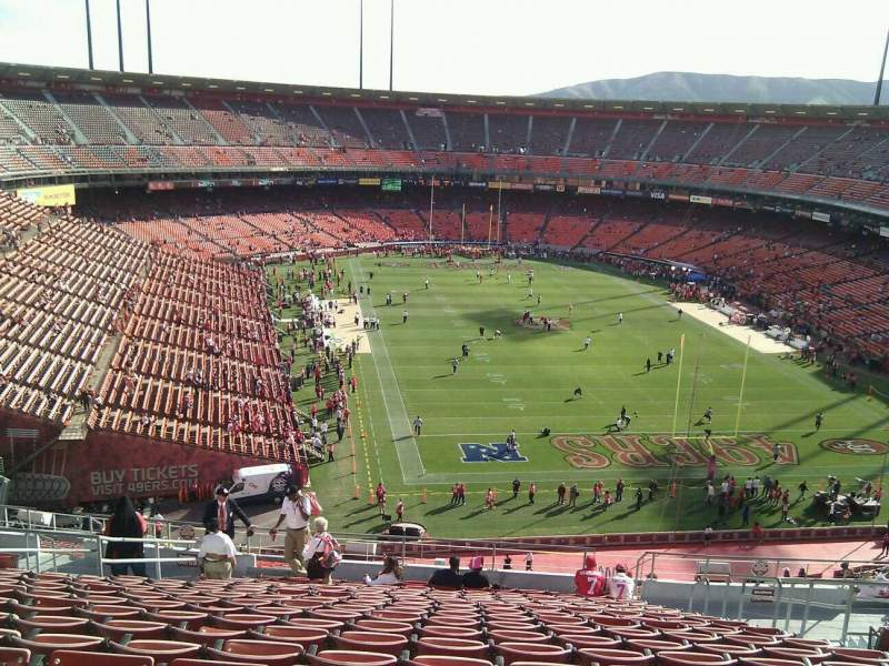 Seating view for Candlestick Park Section 58 Row 17 Seat 7