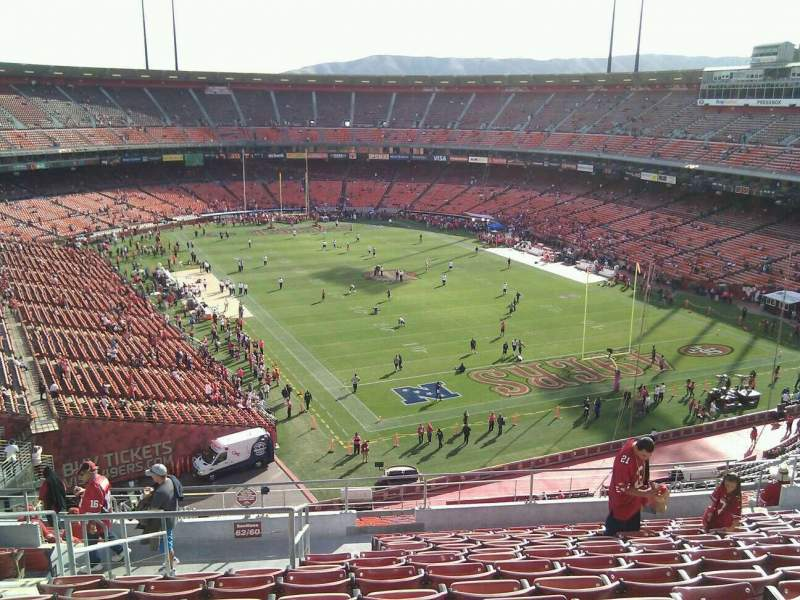 Seating view for Candlestick Park Section 60 Row 13 Seat 16