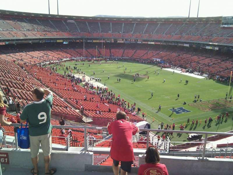 Seating view for Candlestick Park Section 61 Row 5 Seat 10