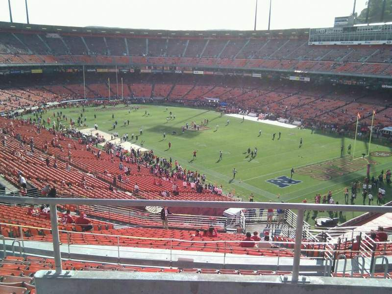 Seating view for Candlestick Park Section 59 Row 3 Seat 7