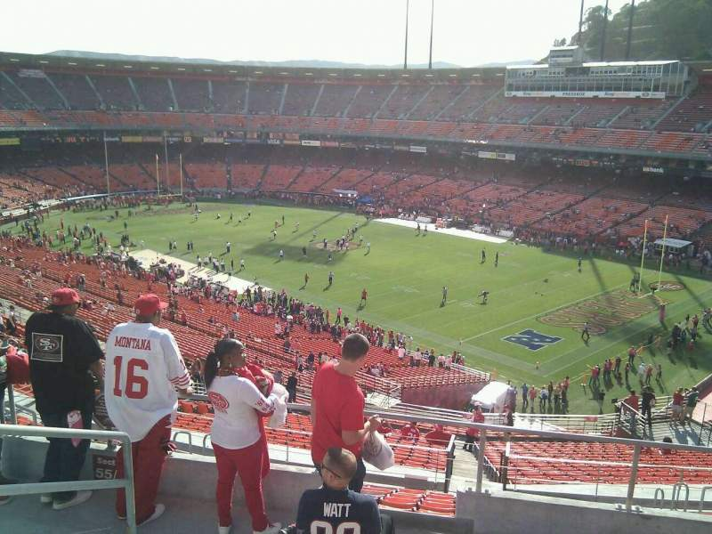 Seating view for Candlestick Park Section 57 Row 6 Seat 10