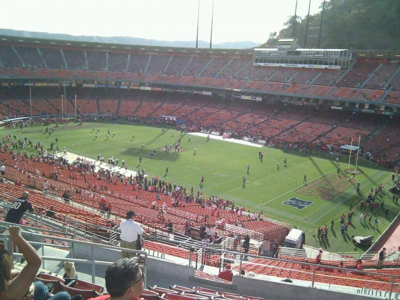 Seating view for Candlestick Park Section 55 Row 10 Seat 9