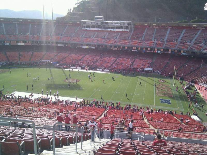 Seating view for Candlestick Park Section 49 Row 19 Seat 18
