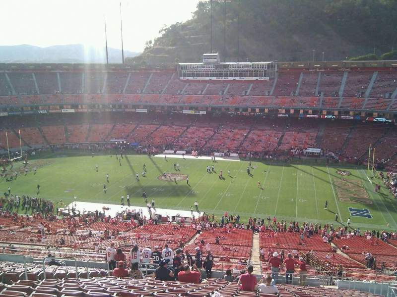 Seating view for Candlestick Park Section 47 Row 22 Seat 9