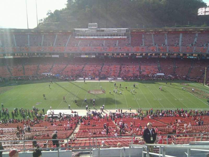 Seating view for Candlestick Park Section 41 Row 10 Seat 1