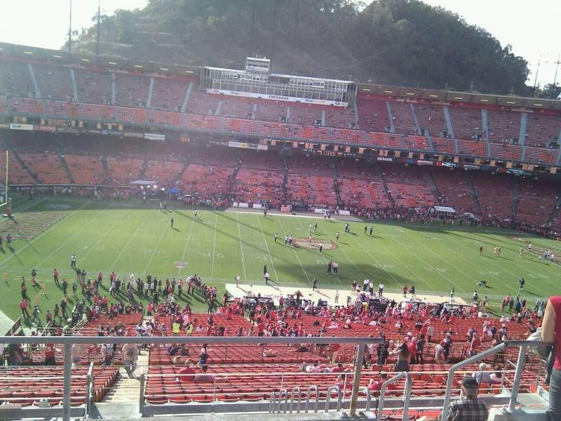 Seating view for Candlestick Park Section 37 Row 4 Seat 6