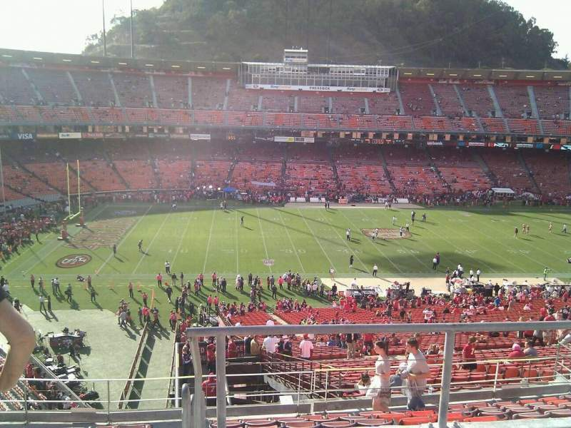 Seating view for Candlestick Park Section 35 Row 3 Seat 5