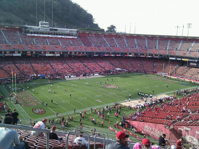 Seating view for Candlestick Park Section 27 Row 16 Seat 20
