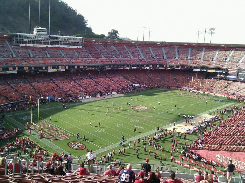 Seating view for Candlestick Park Section 23 Row 2 Seat 11
