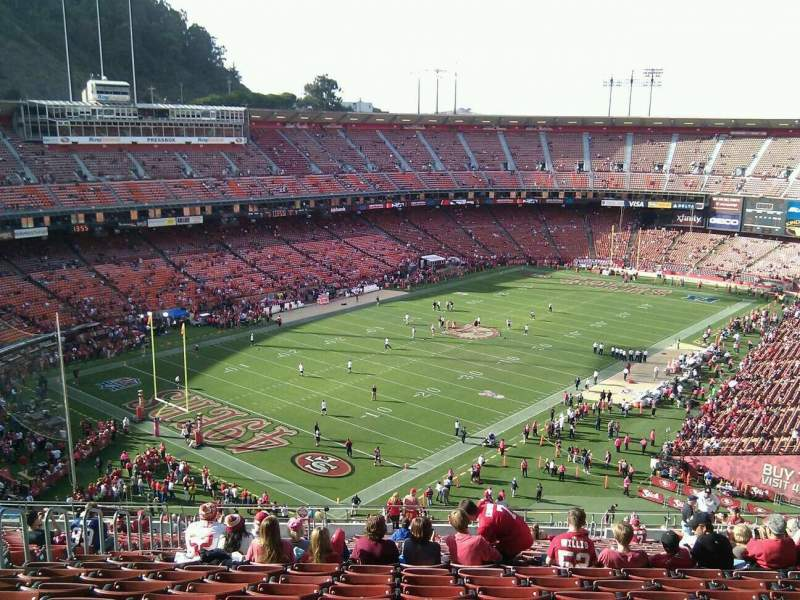 Seating view for Candlestick Park Section 21 Row 23 Seat 14