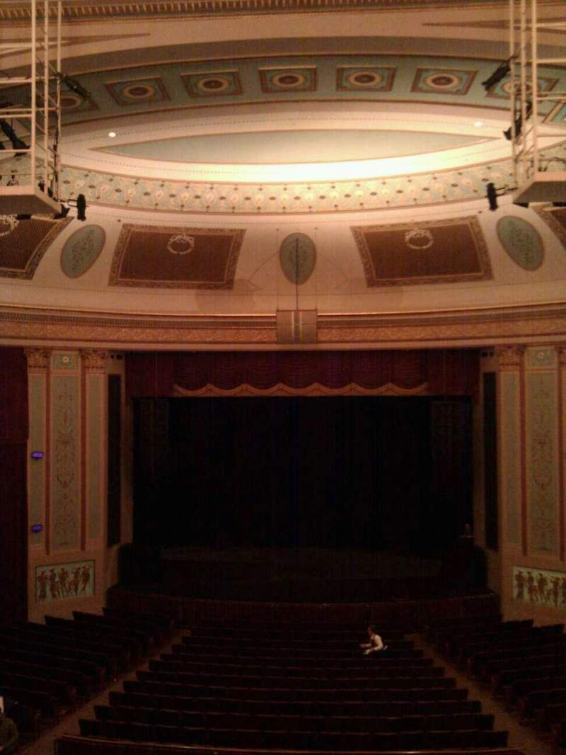 Seating view for Strand-Capitol Performing Arts Center Section balcony center Row c Seat 106
