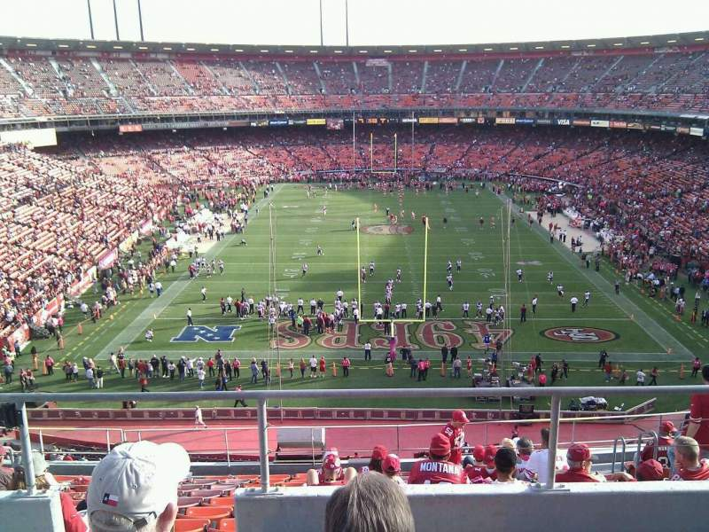 Seating view for Candlestick Park Section 52 Row 4 Seat 9
