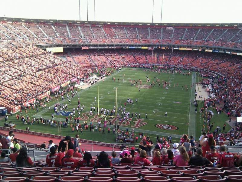 Seating view for Candlestick Park Section 48 Row 17 Seat 9