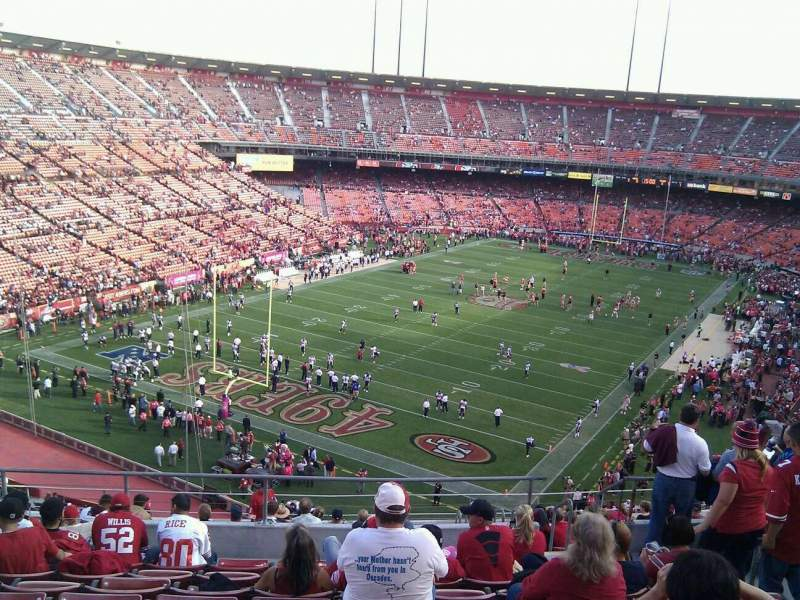 Seating view for Candlestick Park Section 44 Row 8 Seat 7