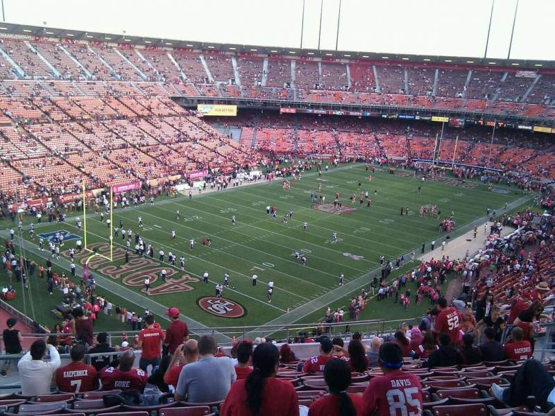 Seating view for Candlestick Park Section 40 Row 14 Seat 13