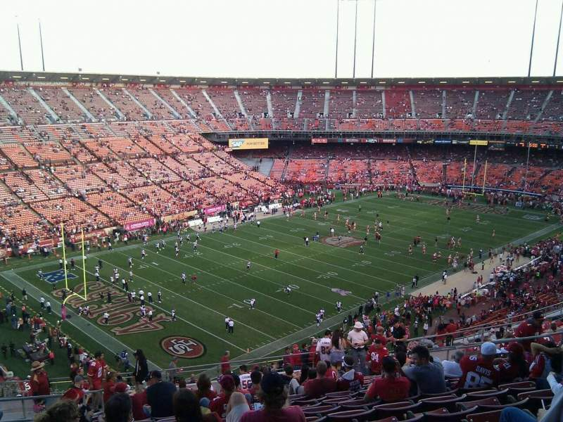 Seating view for Candlestick Park Section 38 Row 17 Seat 12