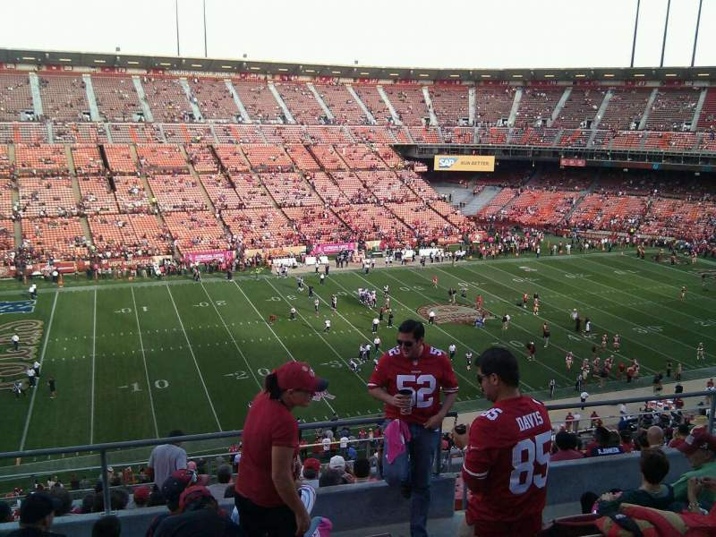 Seating view for Candlestick Park Section 30 Row 6 Seat 8