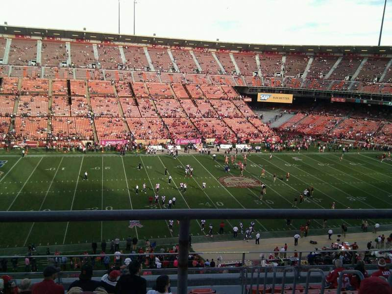 Seating view for Candlestick Park Section 28 Row 2 Seat 7
