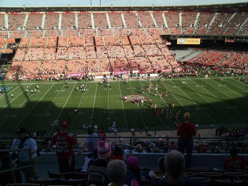 Seating view for Candlestick Park Section 24 Row 8 Seat 12