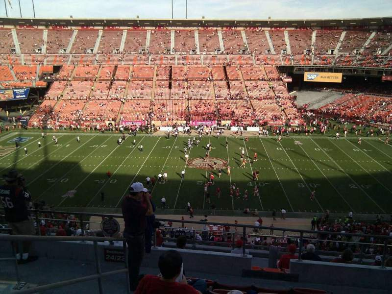 Seating view for Candlestick Park Section 22 Row 7 Seat 13