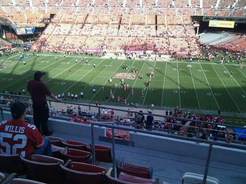 Seating view for Candlestick Park Section 20 Row 6 Seat 10