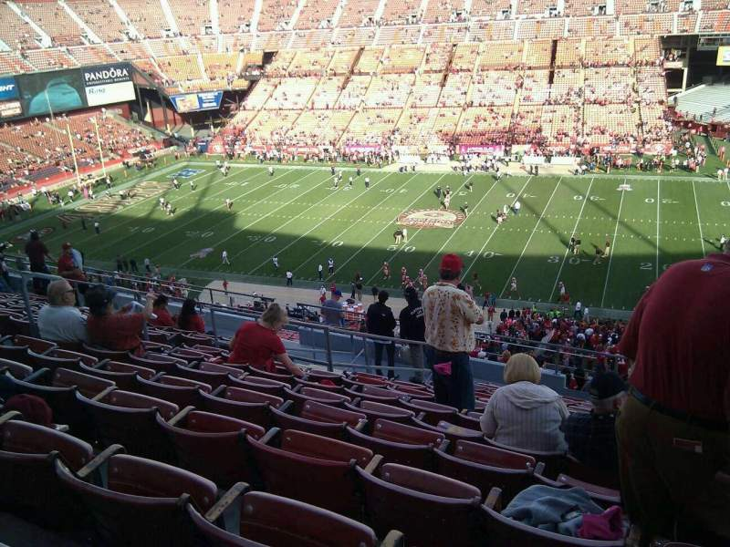 Seating view for Candlestick Park Section 18 Row 13 Seat 9