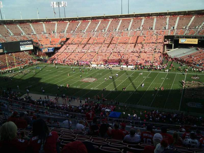Seating view for Candlestick Park Section 14 Row 15 Seat 8