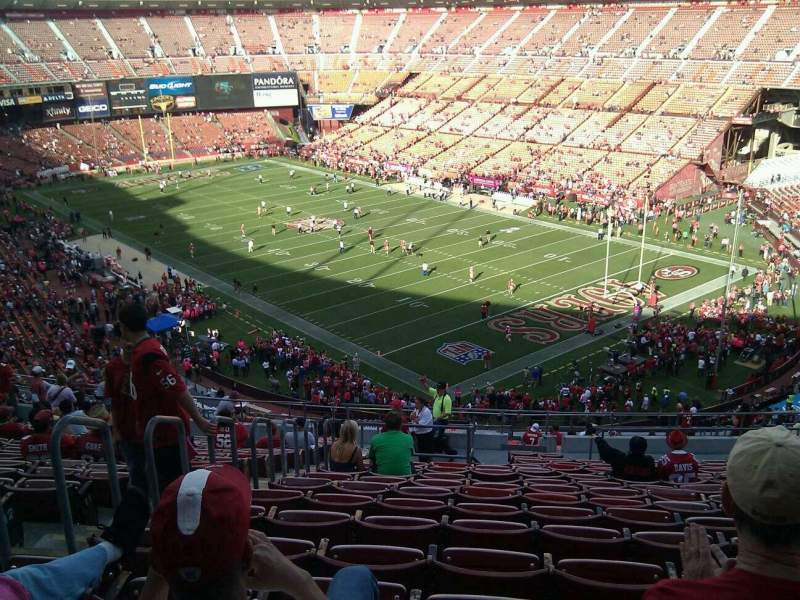 Seating view for Candlestick Park Section 4 Row 17 Seat 18