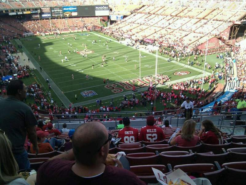 Seating view for Candlestick Park Section 1 Row 14 Seat 7