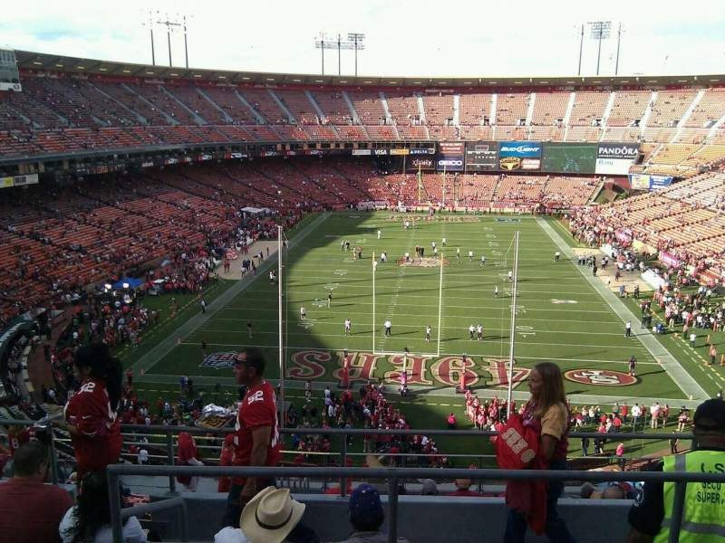 Seating view for Candlestick Park Section 9 Row 6 Seat 8