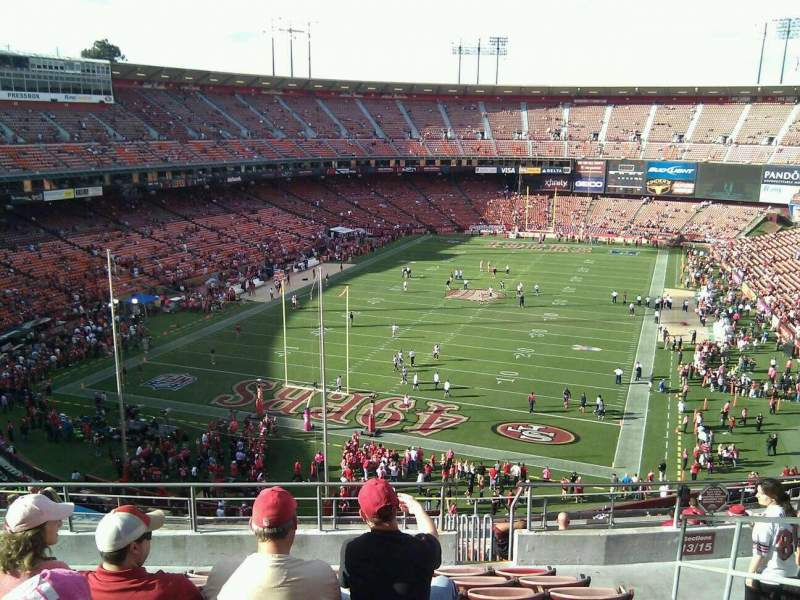Seating view for Candlestick Park Section 13 Row 9 Seat 4