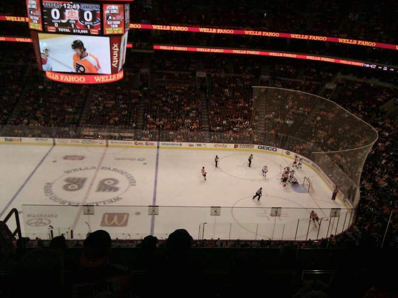 Seating view for Wells Fargo Center Section 202 Row 9 Seat 8